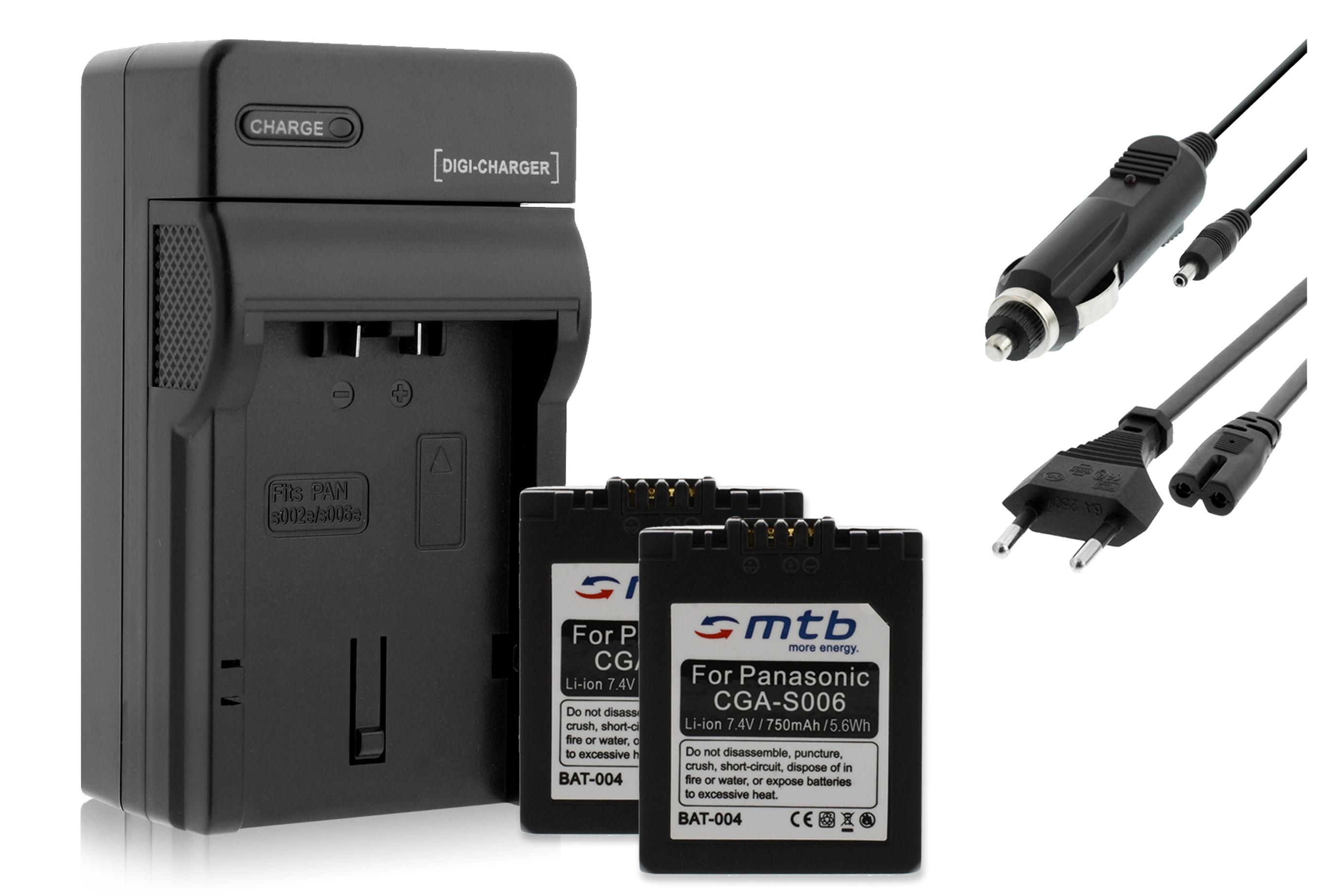 2x batteries cga s006 chargeur pour panasonic lumix dmc - Batterie panasonic lumix dmc fz18 ...