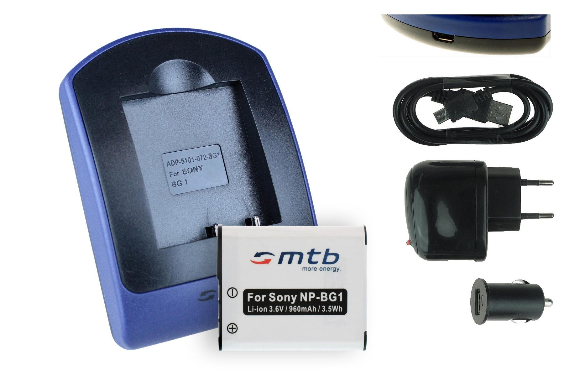 ... Ladegeraet-USB-NP-BG1-FG1-fuer-Sony-Cyber-shot-DSC-W90-W100-W110-W115